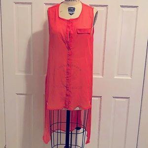 H&m Neon size 12 hi low sheer tunic